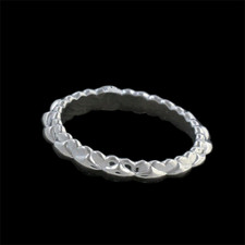 Harout R 18k white gold wedding ring