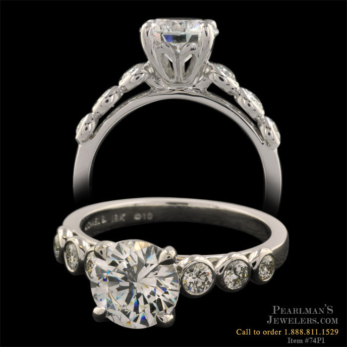 Michael b touch jewelry side diamond engagement ring for Michael b s jewelry