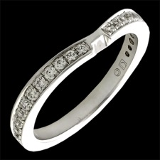 Eddie Sakamoto Curved gold diamond wedding band