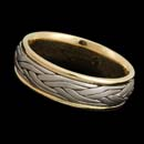 A sophisticated 18kt two tone band measuring 7mm in width. Available in platinum.
