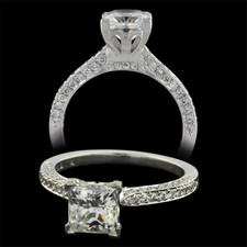 Michael B. Touch 18k white gold engagement ring