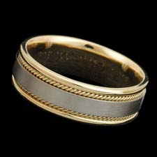 A classic 18kt two tone band measuring 7.0mm in width.  Available in all white or yellow gold and platinum.