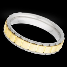 Christian Bauer 14k yellow and white gold band