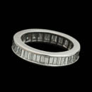 Platinum diamond eternity ring set with 50 baguette diamonds weighing 2.34ct total.  Diamonds are VS G-H plus. Can be made for any size finger.