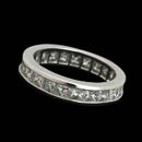 Classic platinum eternity ring set with 23 princess diamonds weighing 3.13ct.  Diamonds are VS G-H plus. Can be made to any size finger.