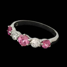 Gumuchian Gumuchian Platinum Pink Sapphire and Diamond band