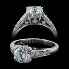 Michael Beaudry Platinum side stone ring