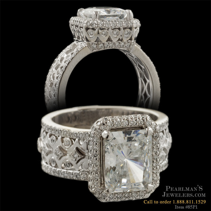 Michael B Quintessa Trois Diamond Engagement Ring