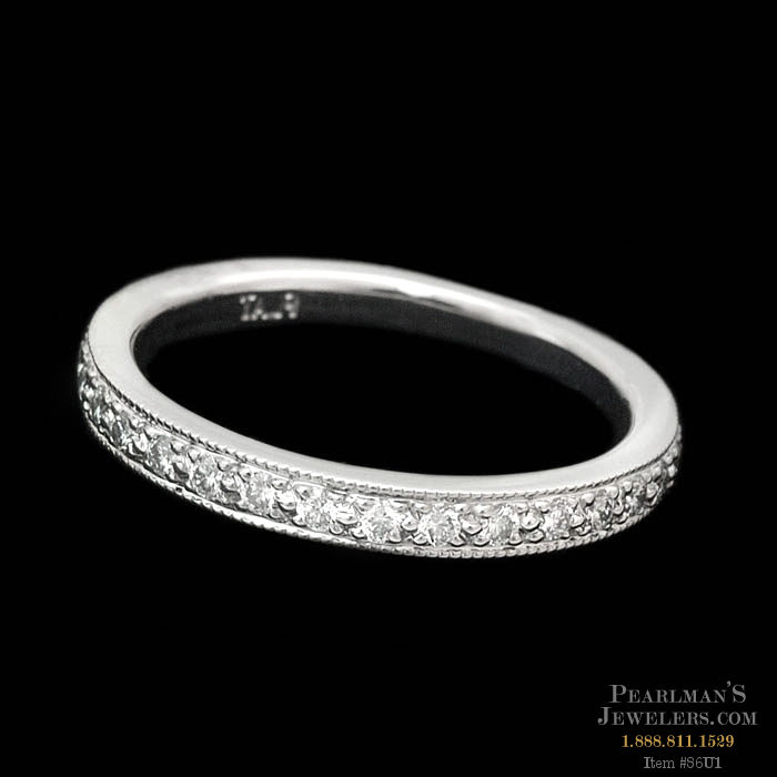 Scott Kay Platinum Diamond Wedding Band Ring: Ladies Platinum Diamond Eternity Wedding Ring By Scott Kay