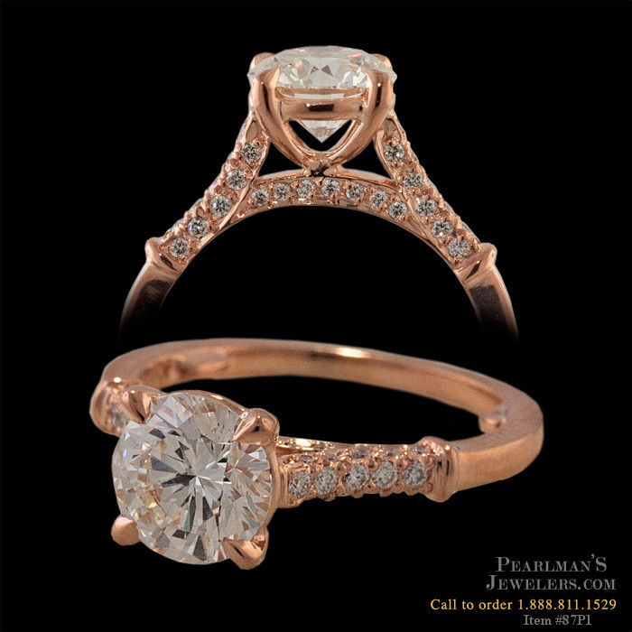 Michael b jewelry rose gold engagement rings for Michael b s jewelry