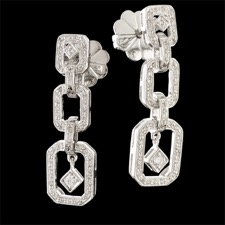 Beverley K 18kt. white gold diamond drop earrings