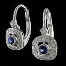 Such a lovely pair of blue sapphire and diamond earrings. These earrings are made from Beverley K in 18k gold, but can be made in 14k gold and platinum.