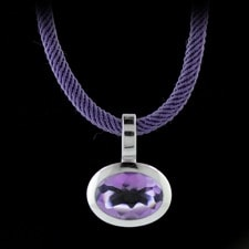 Closeout Jewelry Bastian Inverun amethyst cord necklace
