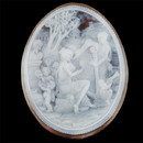 Item 91EB7 - A very fine shell cameo carving. This piece measures 3 1/4 ' x 2 1/2 ' This piece was carved in Italy.