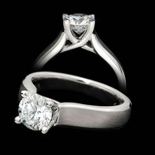 Scott Kay flat shank solitaire ring