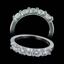 Gumuchian Platinum wedding ring Twin Set