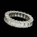 Gorgeous platinum diamond eternity ring set with 22 emerald cut diamonds weighing 5.80ct.  VS G-H plus. This can be made to most sizes.