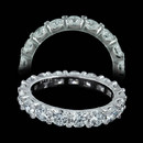 "Gumuchian ""Twin Set"" eternity wedding ring in platinum. This is as beautiful a band as you will ever see. Totally a fireball. This piece is 3.4mm in width and is set with 51 diamonds of VVS F-G ideal cut. 2.85ct total weight. Four different sizes available."