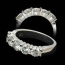 Classic platinum diamond ring set with 5 diamonds weighing 1.50ct total. VS G-H. These are made in many different weight combinations.