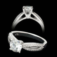 scott kay scott kay split shank pave engagement ring - Scott Kay Wedding Rings