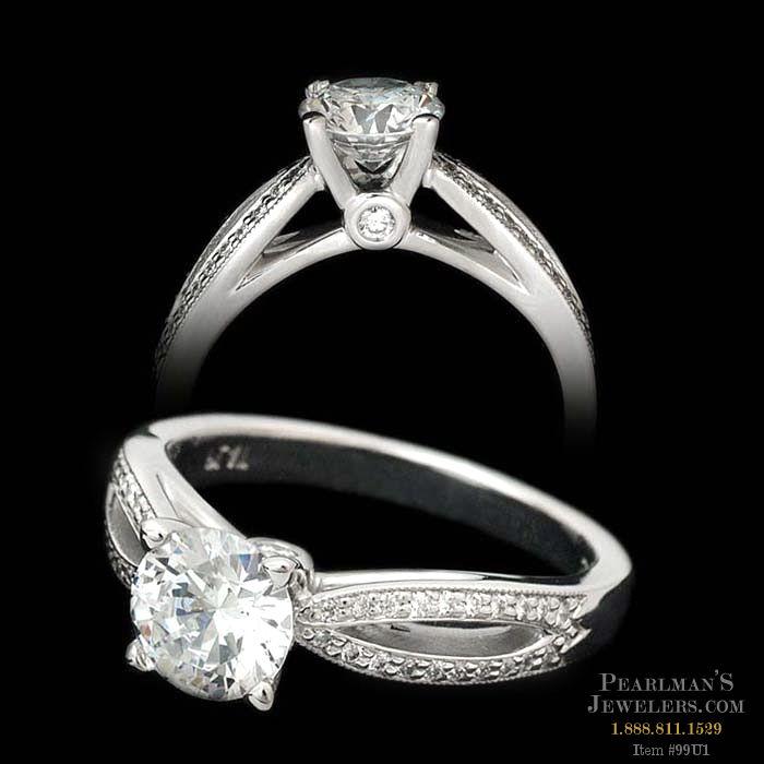 Wedding Rings Kay Jewelry.Scott Kay Jewelry Scott Kay Split Shank Pave Engagement Ring